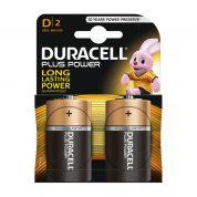 Duracell Plus Power D rafhlaða, 1,5 V, 2 stk, alkaline.