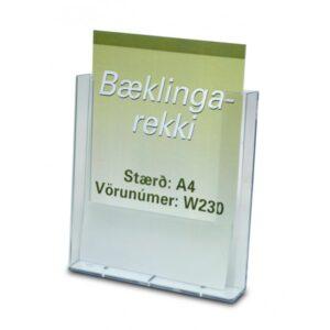 Bæklingastandur fyrir A4 einblöðunga/bæklinga.