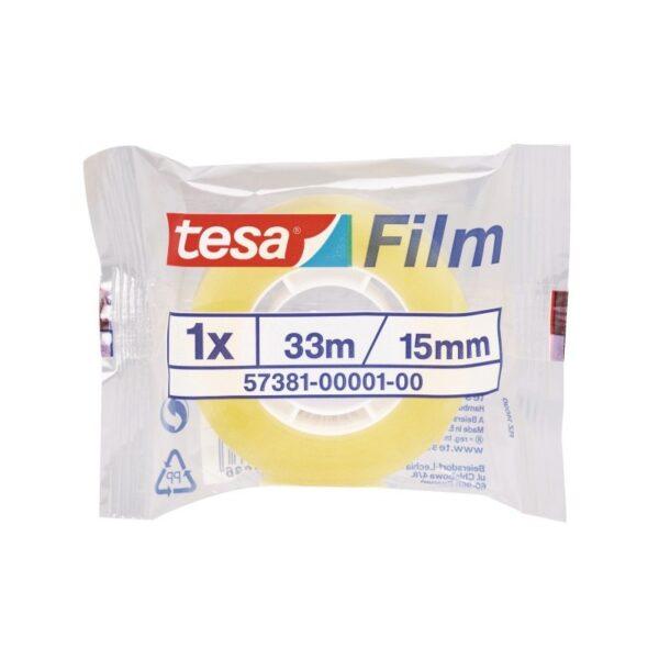 Tesa límband glært 15 mm x 33 m.
