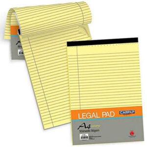 Línustrikuð A4 skrifblokk, Legal Pad Premium.