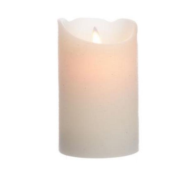 Ótrúlega raunveruleg logalaus LED vaxkerti með fjarstýringu (rafhlaða fylgir fjarstýringu). Hvít. Þurfa 3 x AAA í hvert kerti (150 tímar) – ekki innifalin.