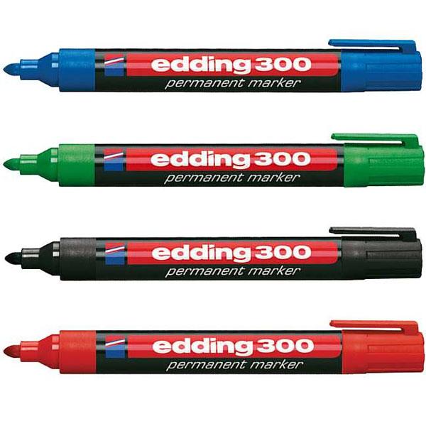 Vatnsþolnir Edding 300 merkipennar.
