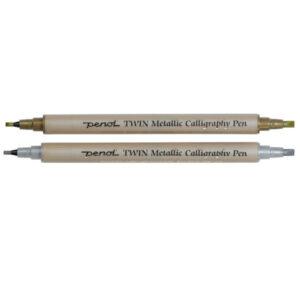 Tvíodda Penol skrautskriftarpenni 2,0 mm og 3,5 mm.