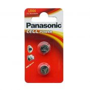 1,5 V Micro Alkaline Panasonic Cell Power LR44. Mjög endingargóðar rafhlöður, tvær á spjaldi.