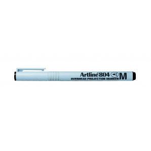 Artline 804 Medium glærupenni. Vatnsleysanlegur,1,0 mm skriftarlína. Svartur.