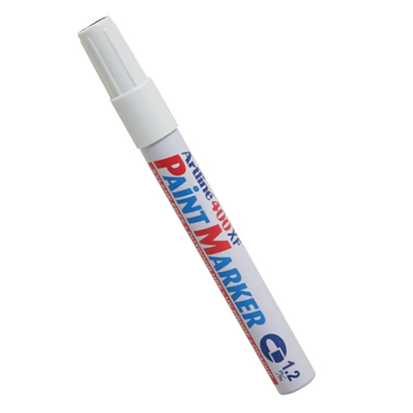 Artline Paint Marker tússpenni 1,2 mm.Tilvalinn til merkinga innanhúss sem utan. Skrifar á pappa,gler, stein, gúmmí, járn og við. Vatns- og ljósþolinn.