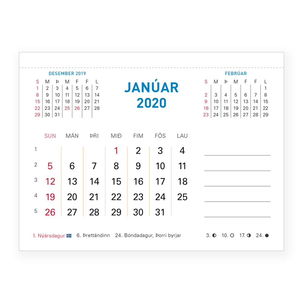 Dagatalsblokk 2020