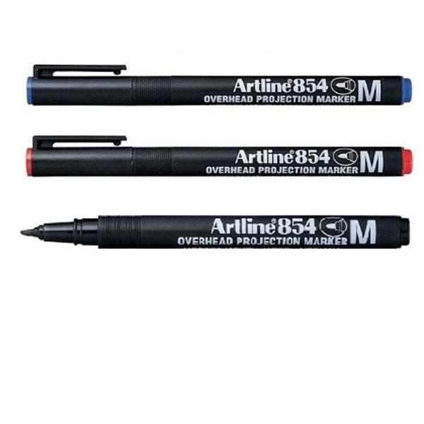 Varanlegur Artline 854 glærupenni með meðal skrifoddi.