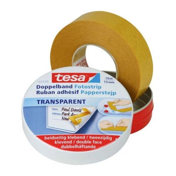 Tesa tvöfalt límband 15 mm breitt og 10 metra langt.