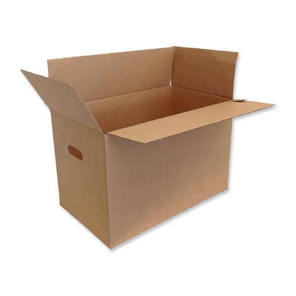 Sterkur kassi með handföngum sem hentar vel fyrir möppur eða flutninga.