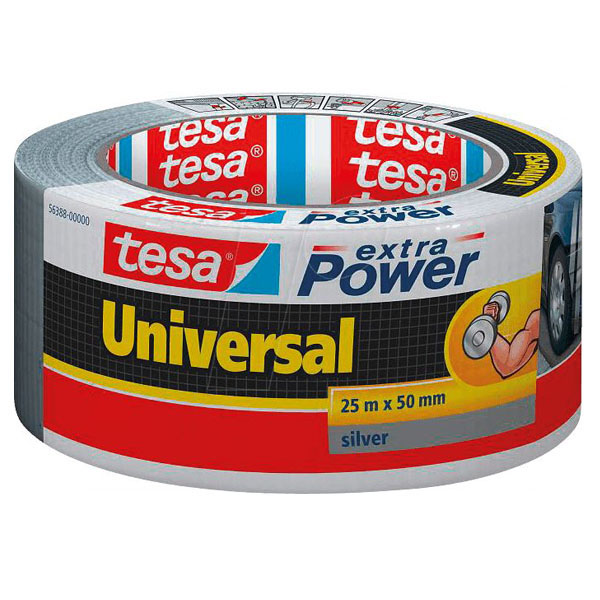 Grátt Tesa Heavy Duty Duct Tape. Mjög sterkt límband.