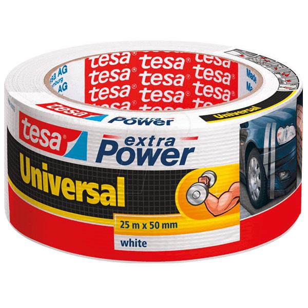 Hvítt Tesa Heavy Duty Duct Tape. Mjög sterkt límband.