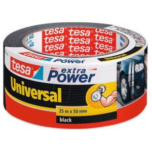 Svart Tesa Heavy Duty Duct Tape. Mjög sterkt límband.