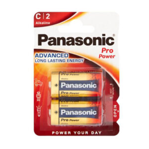 Panasonic rafhlaða, 1,5 V, 2 stk, alkaline.