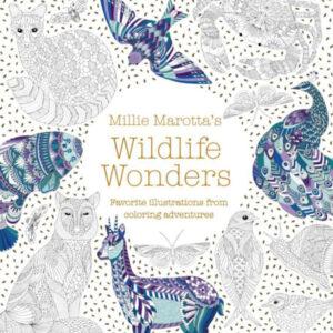 Litabók Wildlife Wonders fyrir fullorðna eftir Millie Marotta.