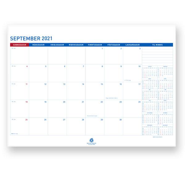 Dagatal sem byrjar á september 2021 og er út árið 2022.